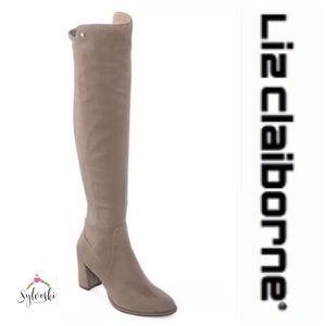 🔥LIZ CLAIRBORNE LEYLA OVER THE KNEE BOOTS NWT